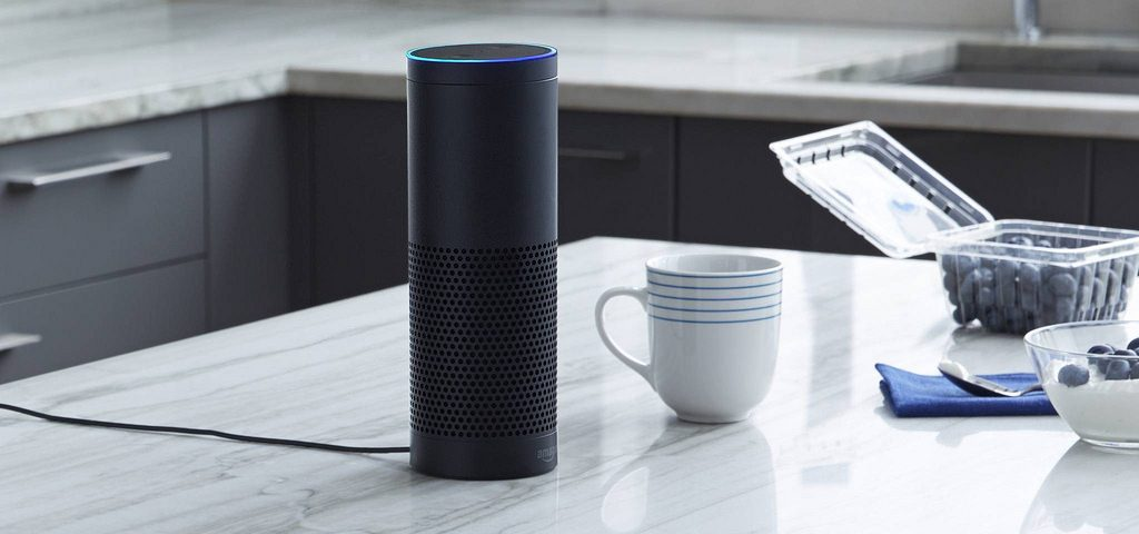Alexa speaker in kitchen